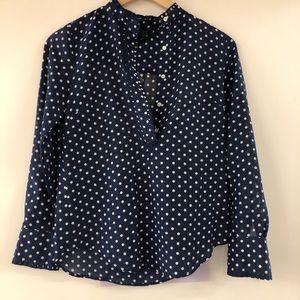 J crew polka dot blouse. Size 2